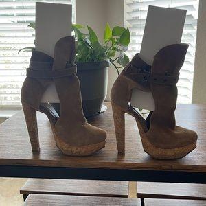 Herve Leger Fabiana Cork Heels